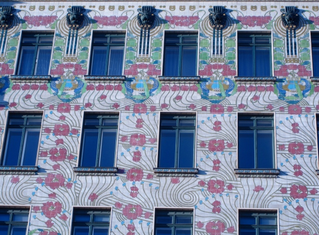 One of Otto Wagner's Jugenstil buildings near the Nachsmarkt